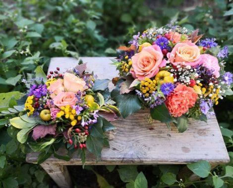 svatební květinové aranžmá na stoly