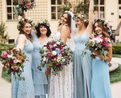 svatební kytice pro nevěstu v přírodním stylu